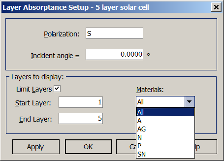 Layer Absoptance