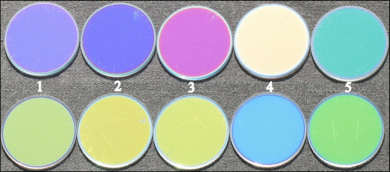 optical coatings with color properties